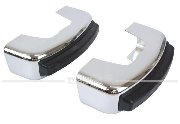 Paar Stoßstangenhörner für alle Modelle ab 08/74 mit Kastenstoßstange (ohne Prall-Leiste)
