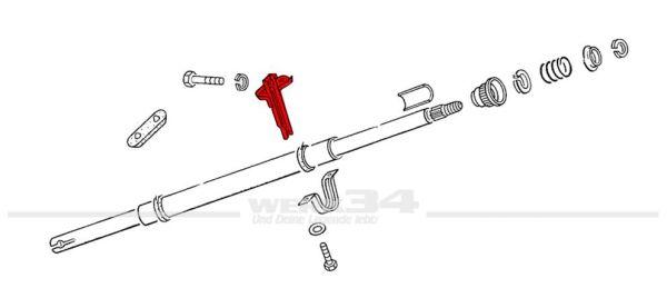 Stützblech zur Lenksäulenabstützung, passend für alle Modelle bis Bj. 07/59