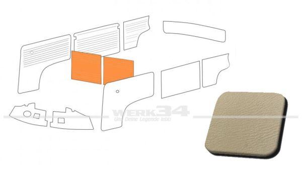 Verkleidung Trennwand mit/ohne Durchgang, hellgrau, passend für T2 Bus 08/68-07/76 Außenteil