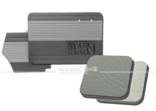 Tür- und Seitenverkleidungen mit Kartentasche, Cabrio, 55-64, Classic-Style, grau