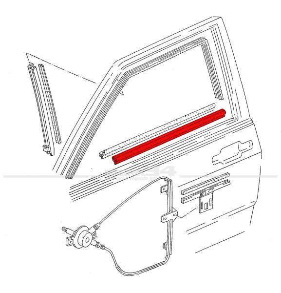 Aussenschachtdichtung, links, passend für Polo II + III