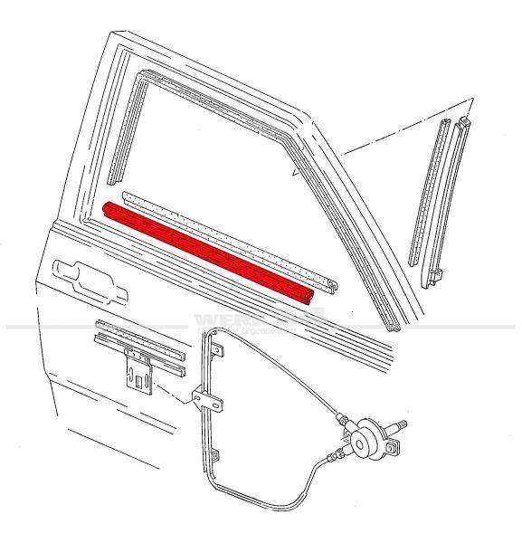 Aussenschachtdichtung, rechts, passend für Polo II + III