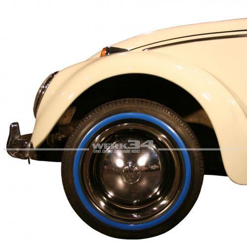 4-tlg. Satz 14Zoll Reifen Zierringe, blau