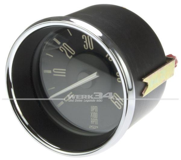 Drehzahlmesser für Typ 3 mit schwarzem Hintergrund