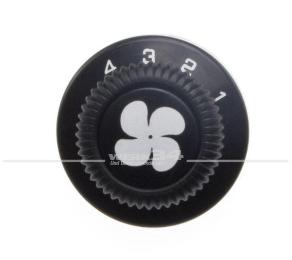Knopf für Gebläse, 4-Stufig, schwarz