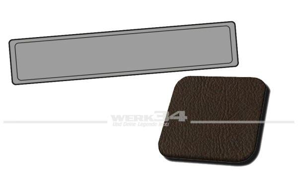 Verkleidung Heckklappe braun, passend für Typ 3 Variant, Bj. 1968-73