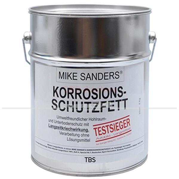 MIKE SANDERS Korrosionsschutzfett im 4 Kg Eimer. Weiche Mischung für Hohlräume. Der Testsieger !
