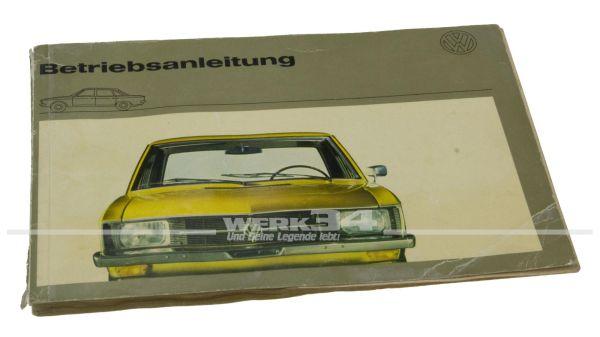 Betriebsanleitung VW K 70 Ausgabe Oktober 1970