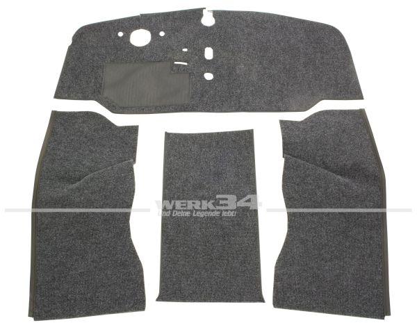 Teppichsatz 4-tlg., Schlinge grau, passend für VW Bus T2 Bj 8/67-7/72