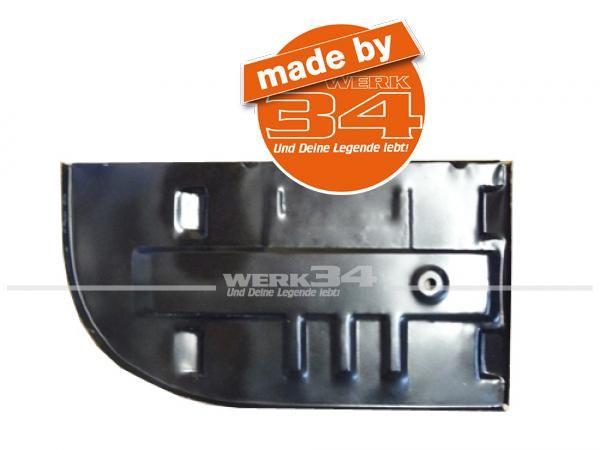 Verstärkungsblech / Batterieboden im Motorraum links, passend für Bus T2 08/71-07/79