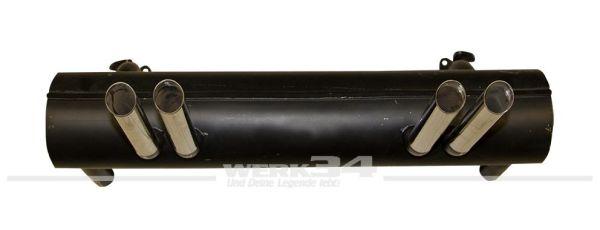 4-Rohr Schalldämpfer in Top Qualität aus Edelstahl, Abarth Style, passend für 22KW-30PS Motoren