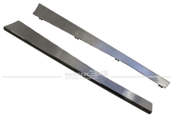 Paar Trittbretter aus Aluminium schwarz poliert