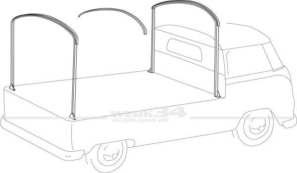 Planengestell, passend für Bus T1 und T2 Pritsche oder Doppelkabine