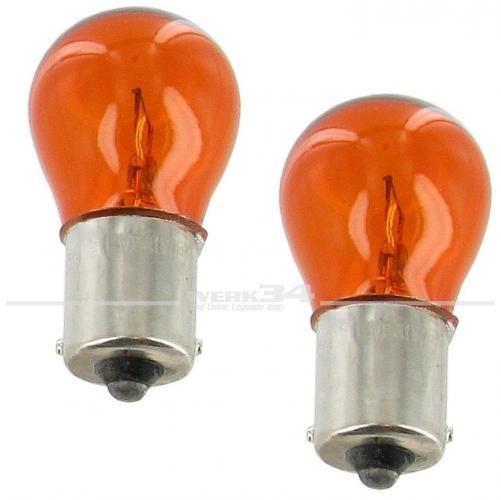 Satz, Glühlampe orange, 6V 21 Watt, Sockel BA15s