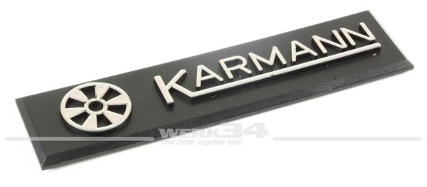 """""""Karmann"""" Emblem, seitlich am Kotflügel, passend für Golf I Cabrio"""