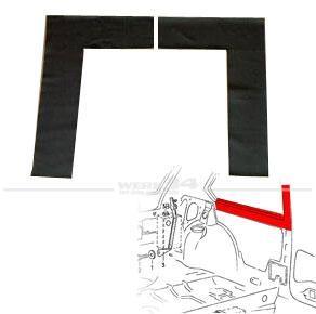 Abdeckung B-Säule/unter Seitenscheibe innen, schwarz, Golf I