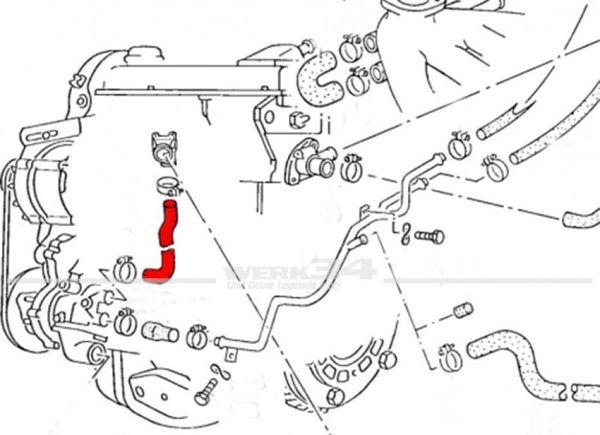 Kühlerschlauch Wasserpumpe zu Motor