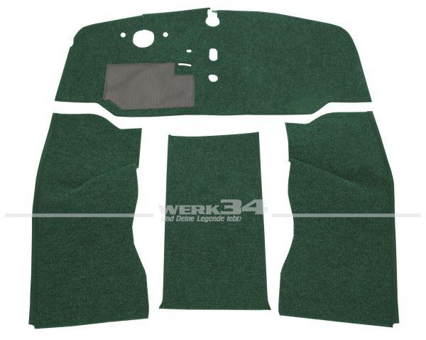 Teppichsatz Schlinge 4-tlg. grün, passend für VW Bus T2 Bj 8/67-7/72