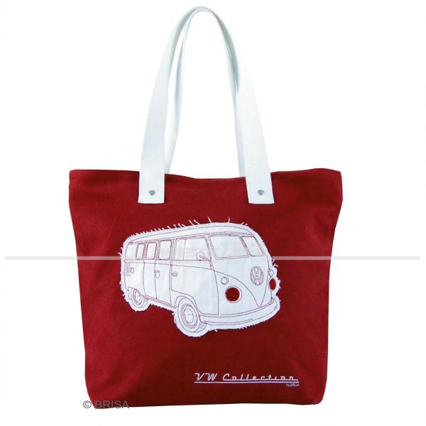 "VW Bulli Canvas Shopper Bag ""Rot"""