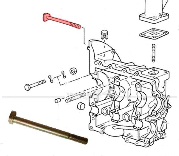 Befestigungsschraube M10 x 125 für Motor am Getriebe