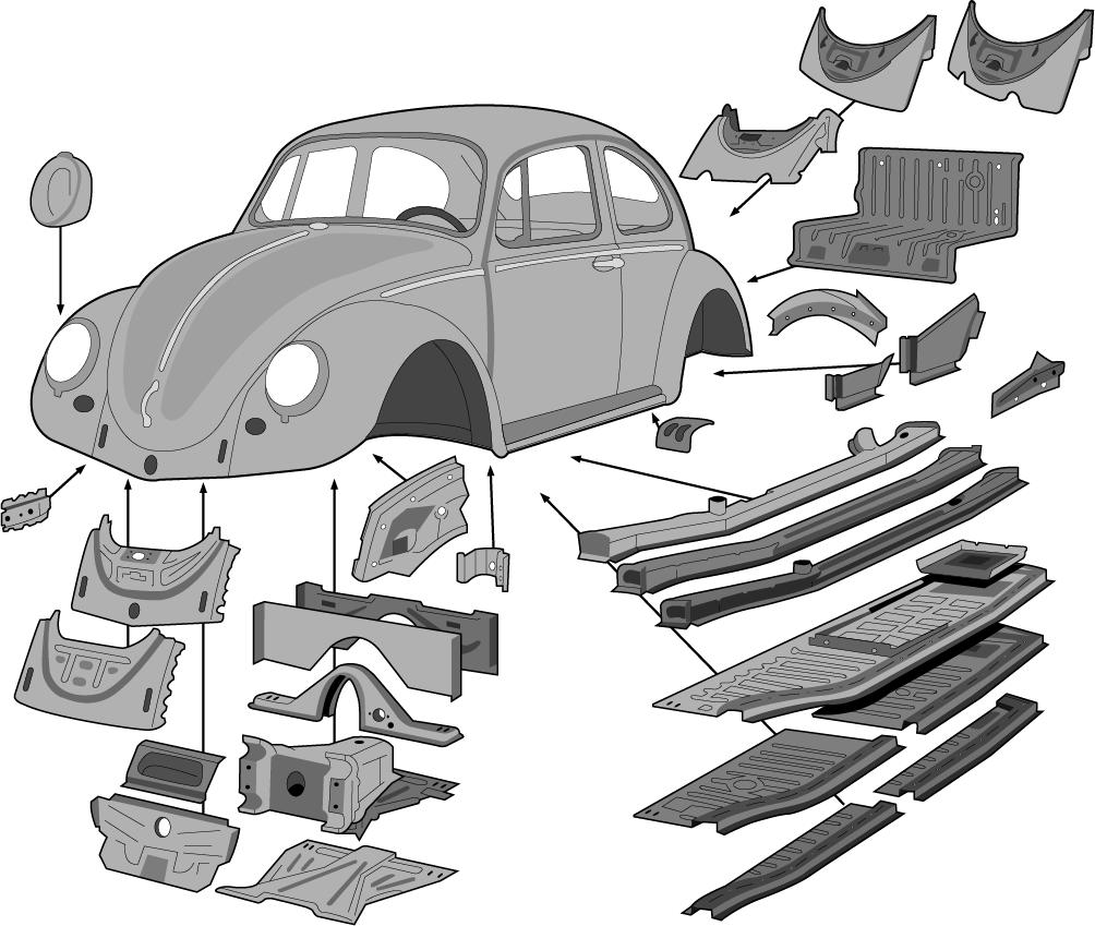 VW Käfer Einstiegsblech Aussenschweller Reparaturblech links alle Modelle