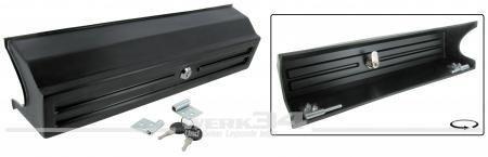 Abdeckung für Gastank, passend für Bus T3, schwarz, mit Schloß und Schlüssel