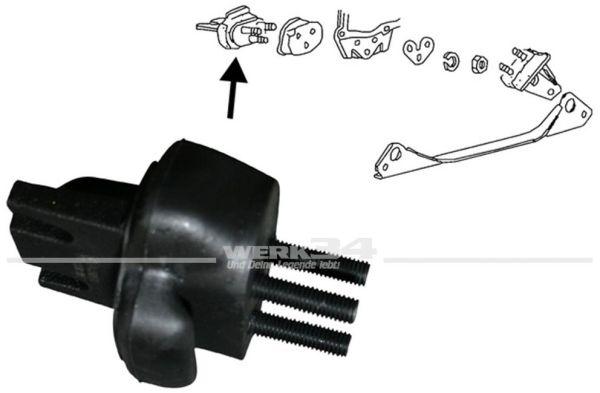 Gummi-Metalllager vorn, zur Getriebeaufhängung, passend ab Bj. 08/72 Käfer,Getriebelager