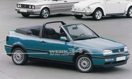 Verdeck-Bezug Golf III Cabrio, Stoff, schwarz