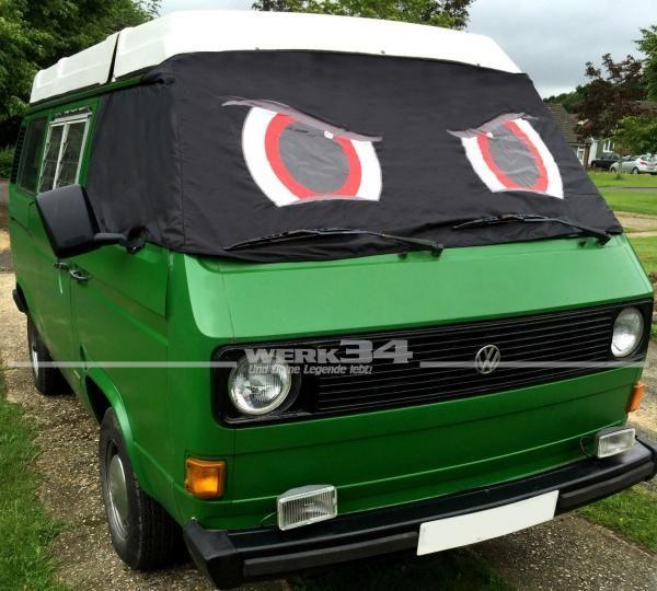 """Fahrerhaus Sonnenschutz """"Angry Eyes"""", passend für Bus T3"""