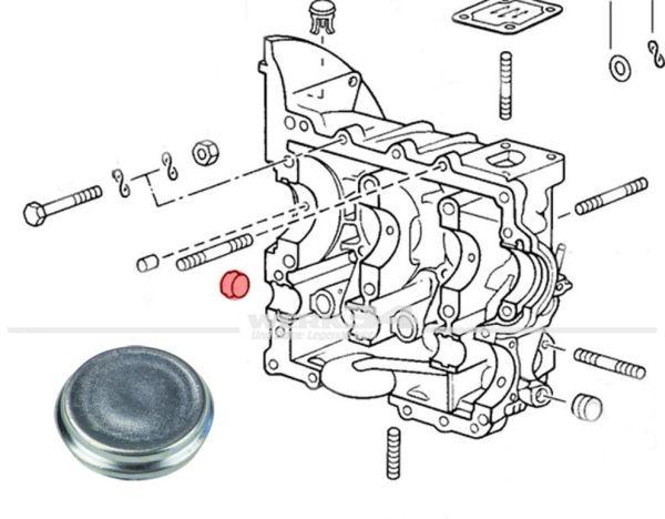 Verschlussdeckel für Nockenwellenlagergasse im Gehäuse, passend für Typ 1, 2, 4 und WBX