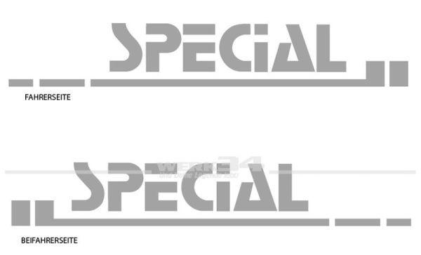 """Aufkleber """"Special"""""""