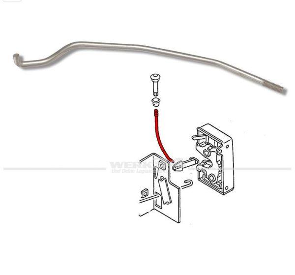 Sicherungsstange für Türschloss, links, passend für Golf I + Cabrio