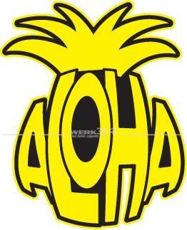 """Aufkleber """"ALOHA"""""""