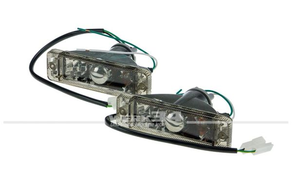 Blinker Set, Klarglas schwarz, passend für verschiedene Modelle