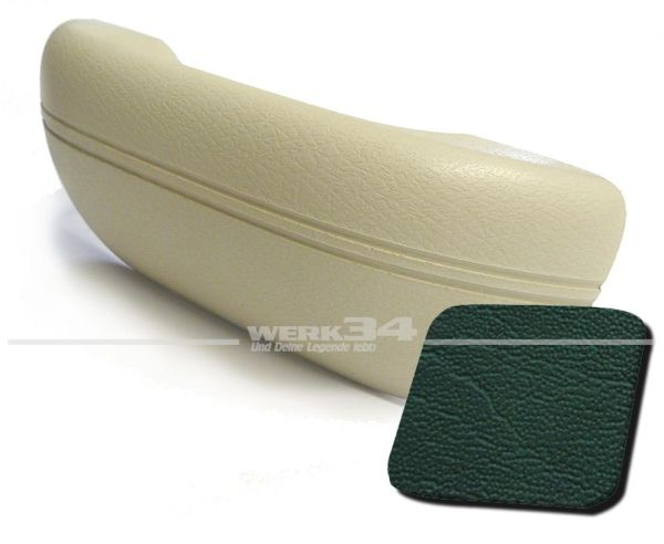 Armlehne dunkelgrün, passend für alle Modelle von 08/67-07/72 und 1302