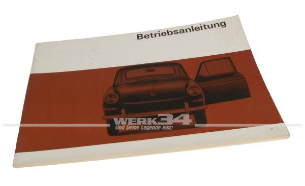 Betriebsanleitung Volkswagen Typ 3 Ausgabe August 1966