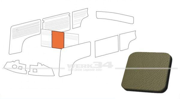 Verkleidung Trennwand ohne Durchgang, grau, passend für T2 Bus 08/68-07/76 Mittelteil