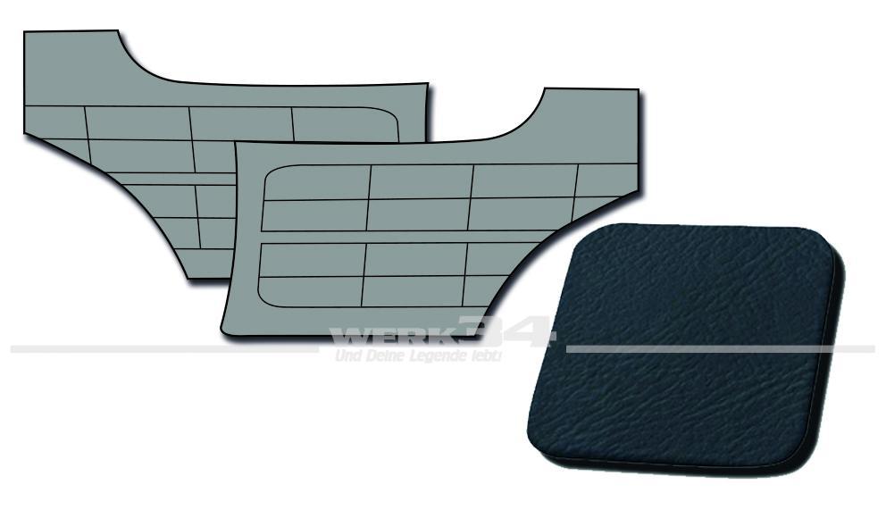 seitenverkleidungen hinten blau passend f r karmann ghia. Black Bedroom Furniture Sets. Home Design Ideas