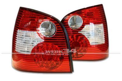 LED-Rückleuchten Polo 9N 01-05, rot-klar