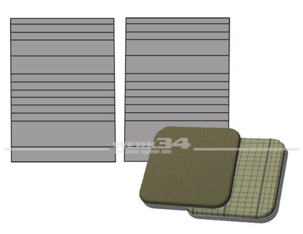 Verkleidung Trennwand außen rechts und links, in Basaltgrau / Silberbeige