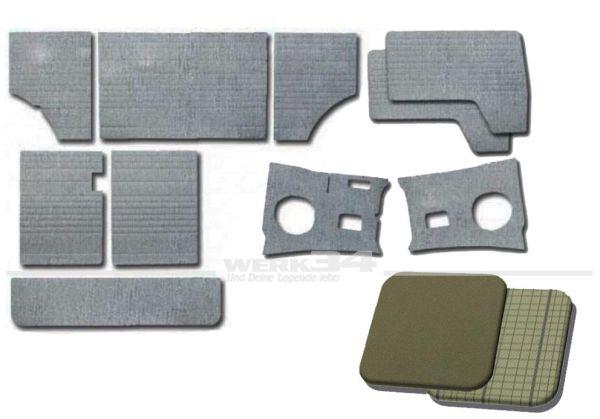 Verkleidungssatz 10-teilig in Bastaltgrau / Silberbeige, passend für Modelle von Bj 08/63 bis 07/67