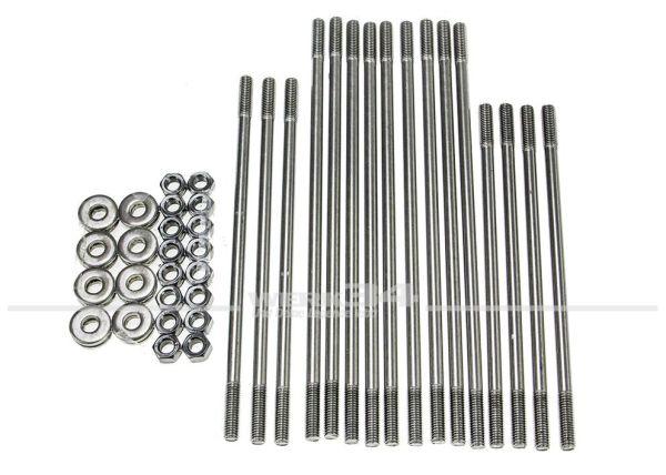 Satz Zylinderstehbolzen, 10mm, mit Doppelkanalzylinderköpfen, passend für Typ 1