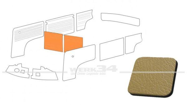 Verkleidung Trennwand mit/ohne Durchgang, ocker, passend für T2 Bus 08/68-07/76 Außenteil