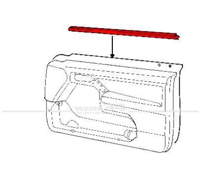 Außenschachtdichtung für vorne, rechts,  passend für Golf III + IV Cabrio
