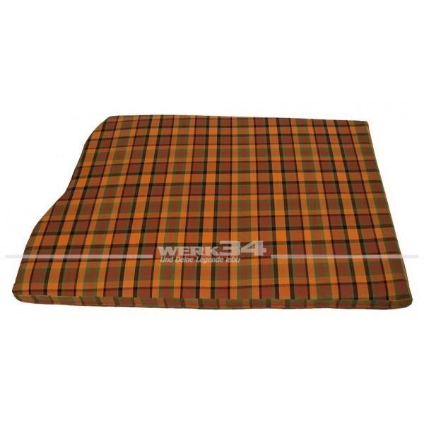 Bezug für Matratze hinten, orange, mit Ausschnitt für Reserverad