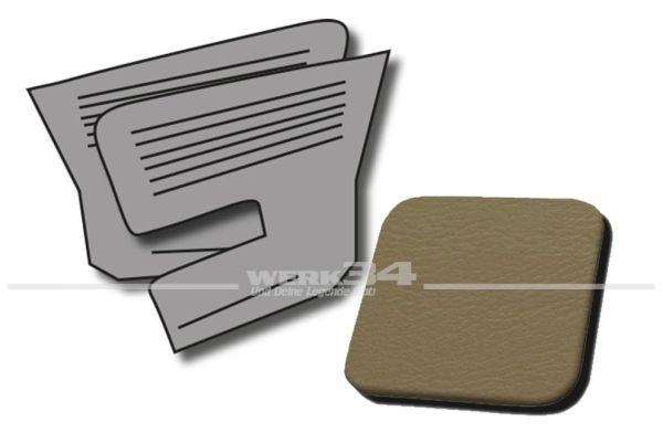 Seitenverkleidungen hinten beige, passend für Typ 3 TL, Bj. 1966-72