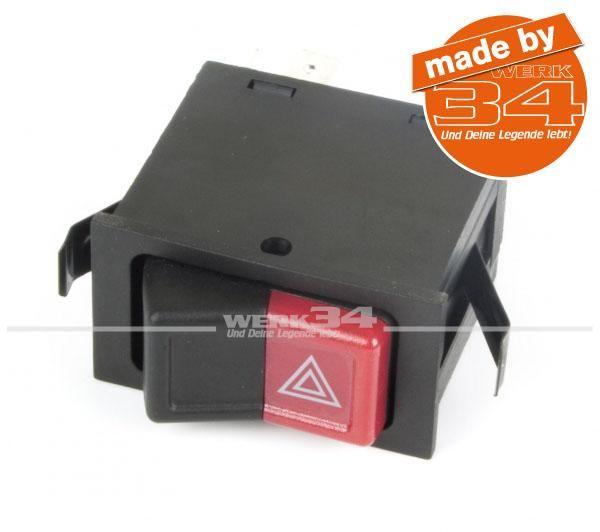 Schalter für Warnblinklicht, passend für Golf I und Cabrio