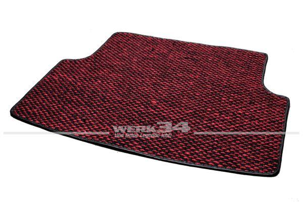 Kokosmatte, für Kofferraum, passend für Typ 3, 61-73 alle Modelle, rot/schwarz