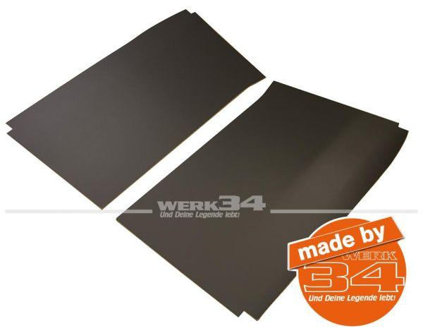 Satz Dachverkleidung in grau aus Pappe, nur vorn, passend für Fensterbus oder Kasten ab 03/55