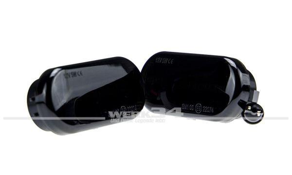 LED Seitenblinker, schwarz, oval